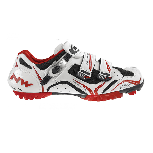 BUTY NORTHWAVE RAZER SBS CARBO WHITE/RED/BLACK