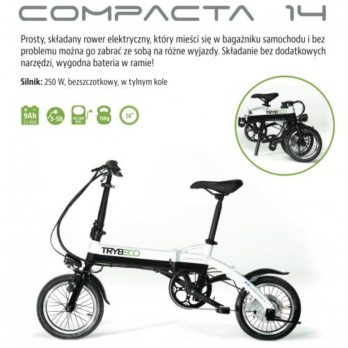 ROWER ELEKTRYCZNY TRYBECO COMPACTA 14,
