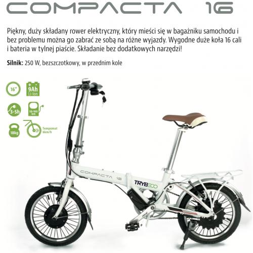 ROWER ELEKTRYCZNY TRYBECO COMPACTA 16,