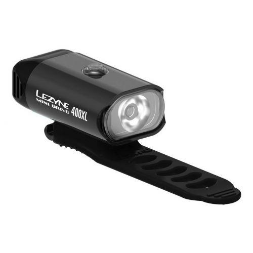 LAMPKA LEZYNE MINI DRIVE 400, 400 L, USB, CZARNA